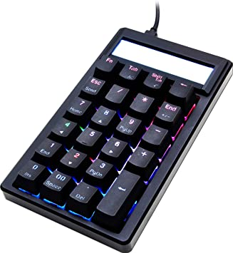 Ducky Pocket Teclado numérico USB Universal Negro - Teclados numéricos (USB, Universal, Negro, Polibutileno tereftalato (PBT), Rojo/Verde/Azul, ...
