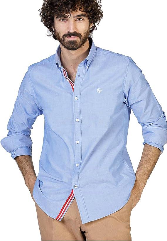 El Ganso 1050s180078 Camisa Casual, Azul (Celeste), Large ...