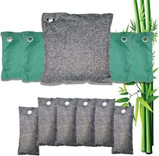 Bamboo Charcoal Air Purifying Bag (8 Pack), 200g,100g,75g Natural Air Freshener Bags, Activated Charcoal Odor Eliminators,...