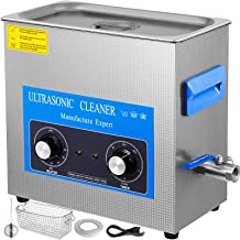 Mophorn 15L Ultrasonic Cleaner 304 Stainless Steel Professional Knob Control Ultrasonic Cleaners with HeaterTimer for Jewelry Watch Glasses Circuit Board Dentures Small Parts Dental Instrument