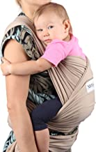 Neotech Care Baby Wrap Carrier - Cotton - Breathable & Adjustable - for Infant, Newborn, Child, Toddler (Milk)