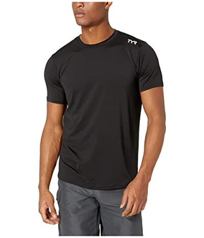 TYR Short Sleeve Rashguard (Black) Men