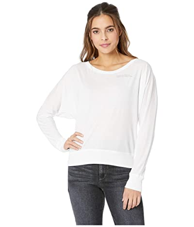 FOR BETTER NOT WORSE Nap Tomorrow Bat Long Sleeve T-Shirt (White) Women