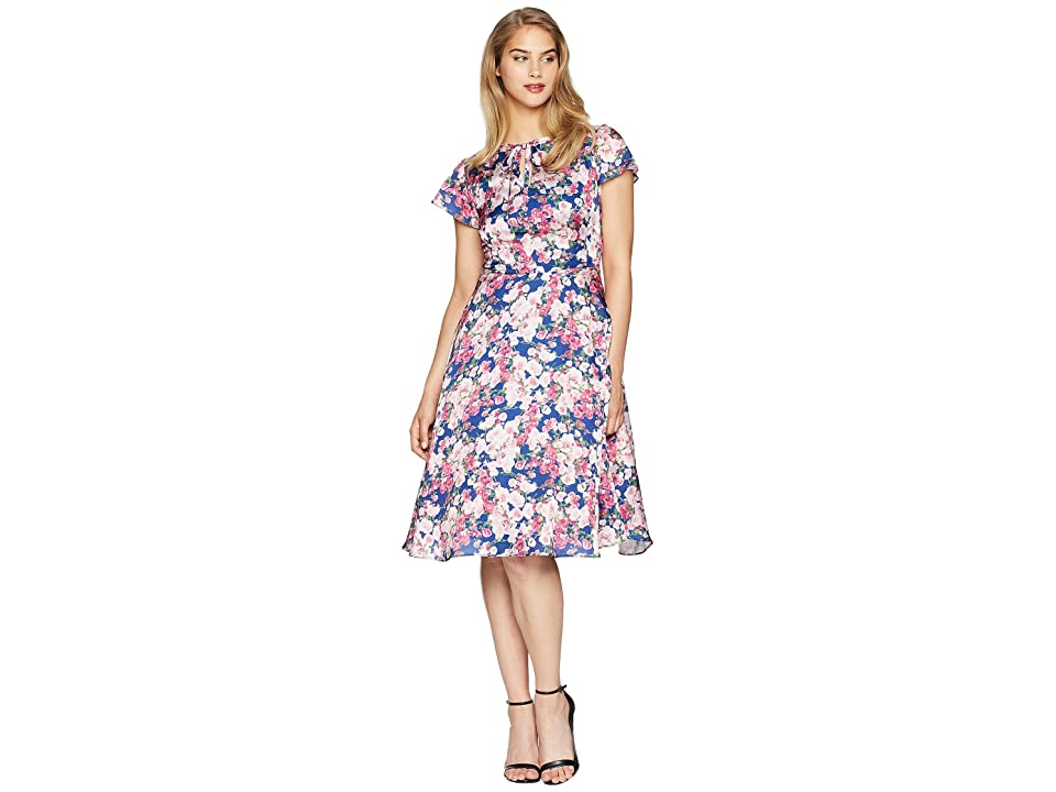 Unique Vintage Formosa Dress (Navy/Pink Floral) Women