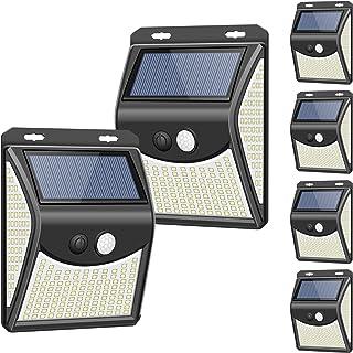 Solar Lights Outdoor[4 Optional Modes&270° Lighting Angle], Towkka 222 LED Solar Motion Sensor Lights Wireless IP65 Waterp...