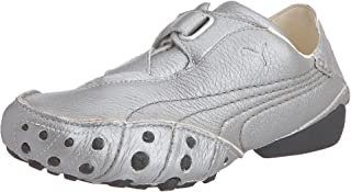 PUMA Amoko Vintage L Womens Leather Fitness Trainers/Shoes - Silver