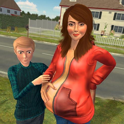 Virtueller Glücklicher Familien Schwangerer Mama Simulator - Neugeborenes Baby Sorgfalt Spiel