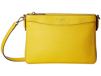 Kate Spade New York Margaux Medium Convertible Crossbody (Vibrant Canary) Handbags