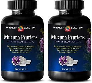 Mood Improvement Supplement - MUCUNA PRURIENS - Velvet Beans Extract - Velvet Bean mucuna pruriens - 2 Bottles 120 Capsules