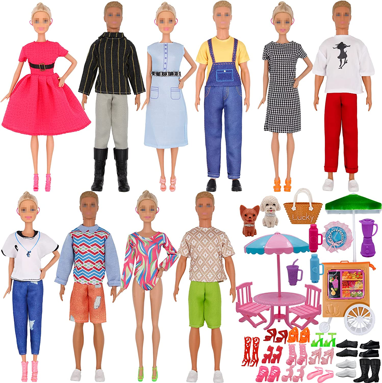 ztweden Genuine Free Super popular specialty store Shipping 55Pcs Doll Clothes and Boy for 12 Inch Accessories