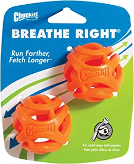 Chuckit! Breathe Right Fetch Ball Small - 2 Pack, Orange