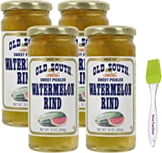 product image for Old South Sweet Pickled Watermelon Rind 10 Oz Jar (Pack of 4) Bundled with PrimeTime Direct Silicone Basting Brush in a PTD Sealed Bag