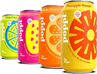 poppi A Healthy Sparkling Prebiotic Soda, w/ Real Fruit Juice, Gut Health & Immunity Benefits, 12pk 12oz Ca...