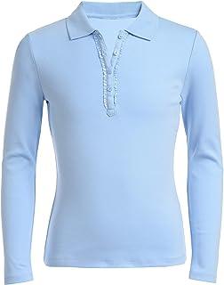 Nautica Girls' School Uniform Polo Shirt