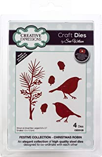 Creative Expressions CED3129 Festive Craft Dies by Sue Wilson, Christmas Robin
