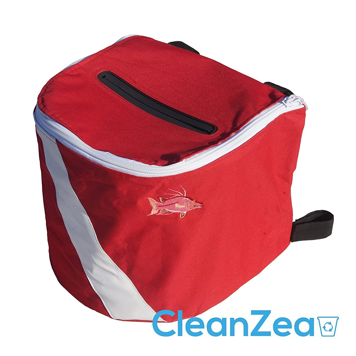 CleanZea Caddy - Easy to mount, soft sided ecofriendly marine trash receptacle