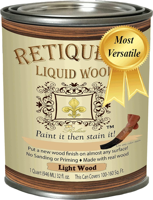 Retique It Max 57% OFF Liquid Wood - Light Paint Stain it 5 ☆ popular Quart Then