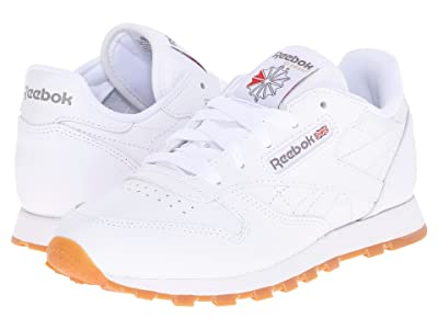 Reebok Kids Classic Leather (Little Kid) (White/Gum) Kids Shoes