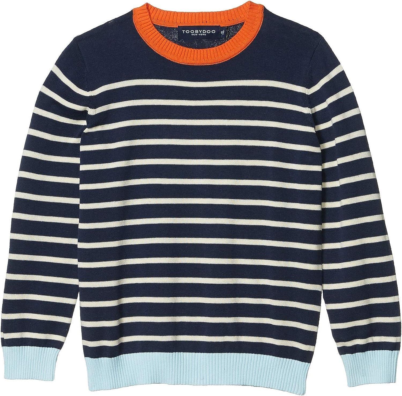 Toobydoo Boy's Striped Sweater (Toddler/Little Kids/Big Kids)
