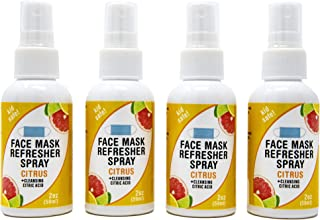 Sponsored Ad - Nature's Fusions Face Mask Refresher Cleansing Spray with Citrus Essential Oils, 4 Pack (2 Fl Oz)