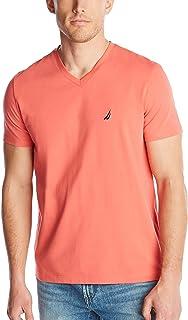 Nautica mens Short Sleeve Solid Slim Fit V-neck T-shirt T-Shirt