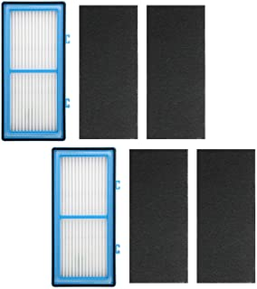 AF Brand 2 Pack Air Purifier Filters for Holmes AER1 HEPA Type Total Air Filter, HAPF30AT for Holmes HAP242-NUC Air Purifier Filter AER1 Series, Replace Type A Filter, 2 HEPA Filter + 4 Carbon Booster