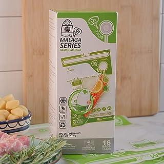 FOSA Reusable Vacuum Food Storage Bags Vacuum Zipper Bag, Medium (8 x 12 inches), 16 Pack