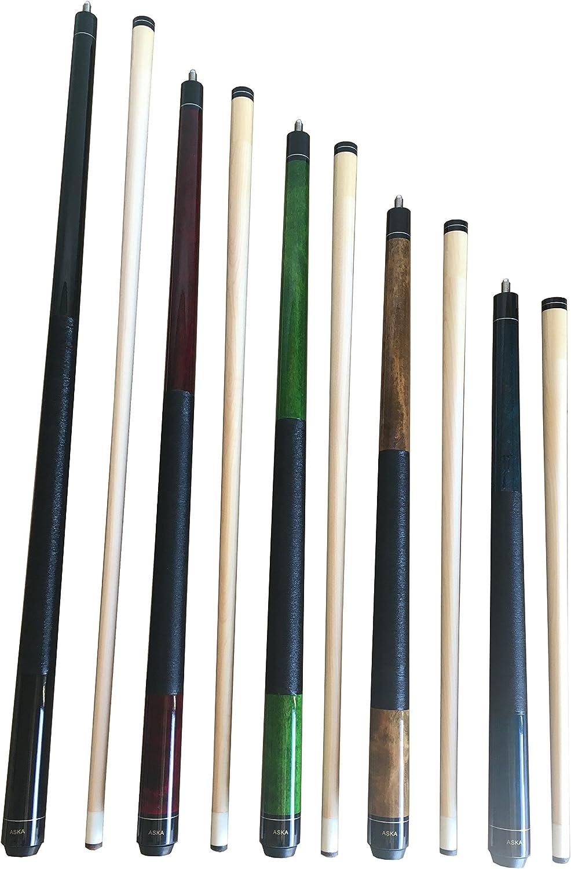 Aska Set of 5 Mixed Length Cues LS5, Canadian Hard Rock Maple Billiard Pool Cue Sticks, Short, Kids Cues
