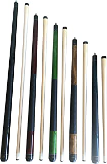 Set of Aska Mixed Length Cues LS, Canadian Hard Rock Maple Billiard Pool Cue Sticks, Short, Kids Cues