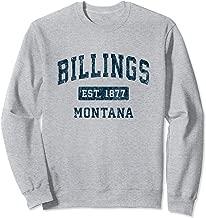 Billings Montana MT Vintage Sports Design Navy Print Sweatshirt