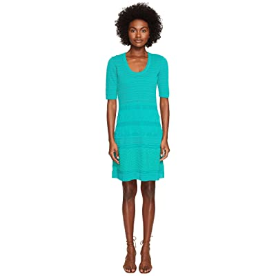 M Missoni Solid Rib Stitch Dress (Turquoise) Women