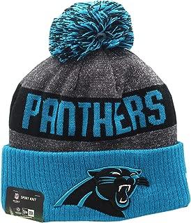 Carolina Panthers 2016 Sport Pom Knit Hat On-Field Logo Block 12276