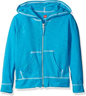 Little Girls' Slub Jersey Full Zip Jacket
