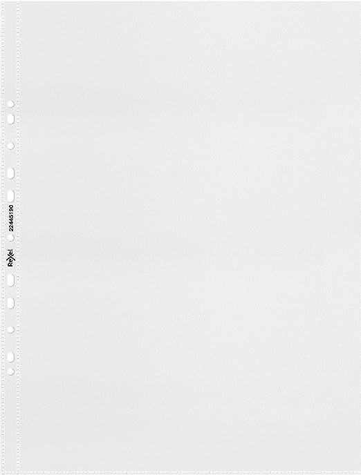 foratura universale Confezione da 10 buste trasparenti lucide per raccoglitori ad anelli Durable in polipropilene formato A4