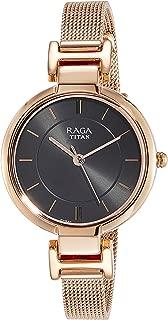 Titan Raga Viva Analog Grey Dial Women's Watch - 2608WM02 (Rose Gold)