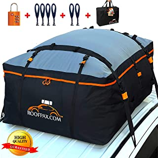 RoofPax Car Roof Bag & Rooftop Cargo Carrier – 15/19 Cubic Feet Heavy Duty Bag,..