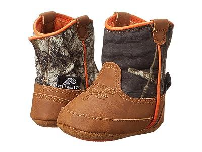 M&F Western Kids Baby Bucker Gunner (Infant/Toddler) (Mossy Oak/Orange) Cowboy Boots