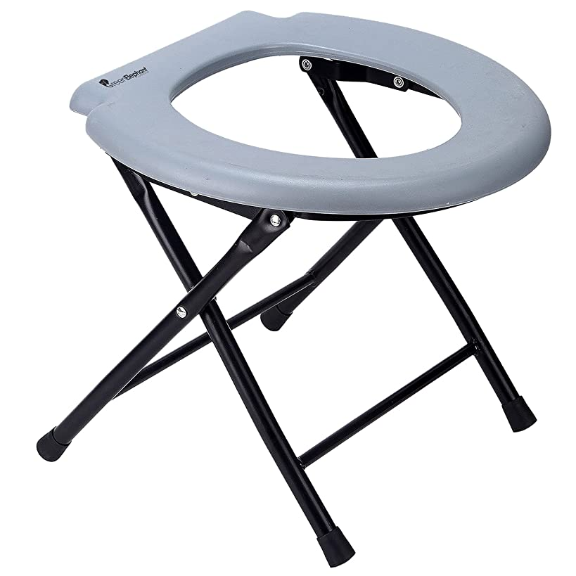 Green Elephant Folding Commode Portable Toilet Seat - Porta Potty and Commode Chair - Comfort Chair Perfect for Camping, Hiking, Trips, Construction Sites, and More