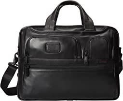 Alpha 2 - Expandable Organizer Laptop Leather Brief