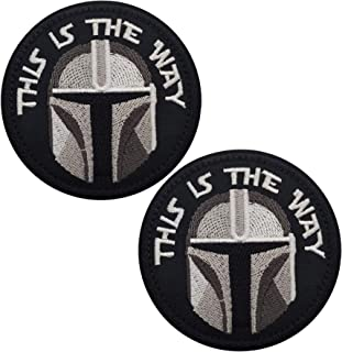 This is The Way Mandalorian Morale Patch, Fastener Hook and Loop Backing Tactical Military Embroidered Fabric Patches for ...