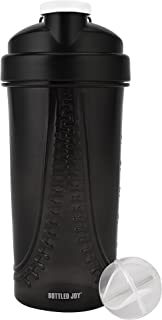 BOTTLED JOY Protein Shaker Bottle, Sports Water Bottle, Shaker Cups for Gym Drinking Bottle Mixer Shake Water Bottles 28oz 800ml
