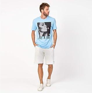 Camisa T-shirt Casual Put a Fire Azul