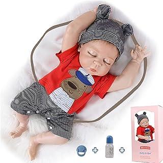 ZIYIUI 50,8 cm Reborn babydockor realistisk pojke silikon helkropp nyfödd 50 cm återfödda bebisar sova med ögon stängd poj...
