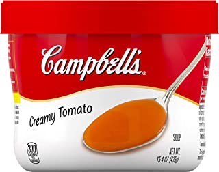 Campbell's Creamy Tomato Soup Microwavable Bowl, 15.4 oz. (Pack of 8)