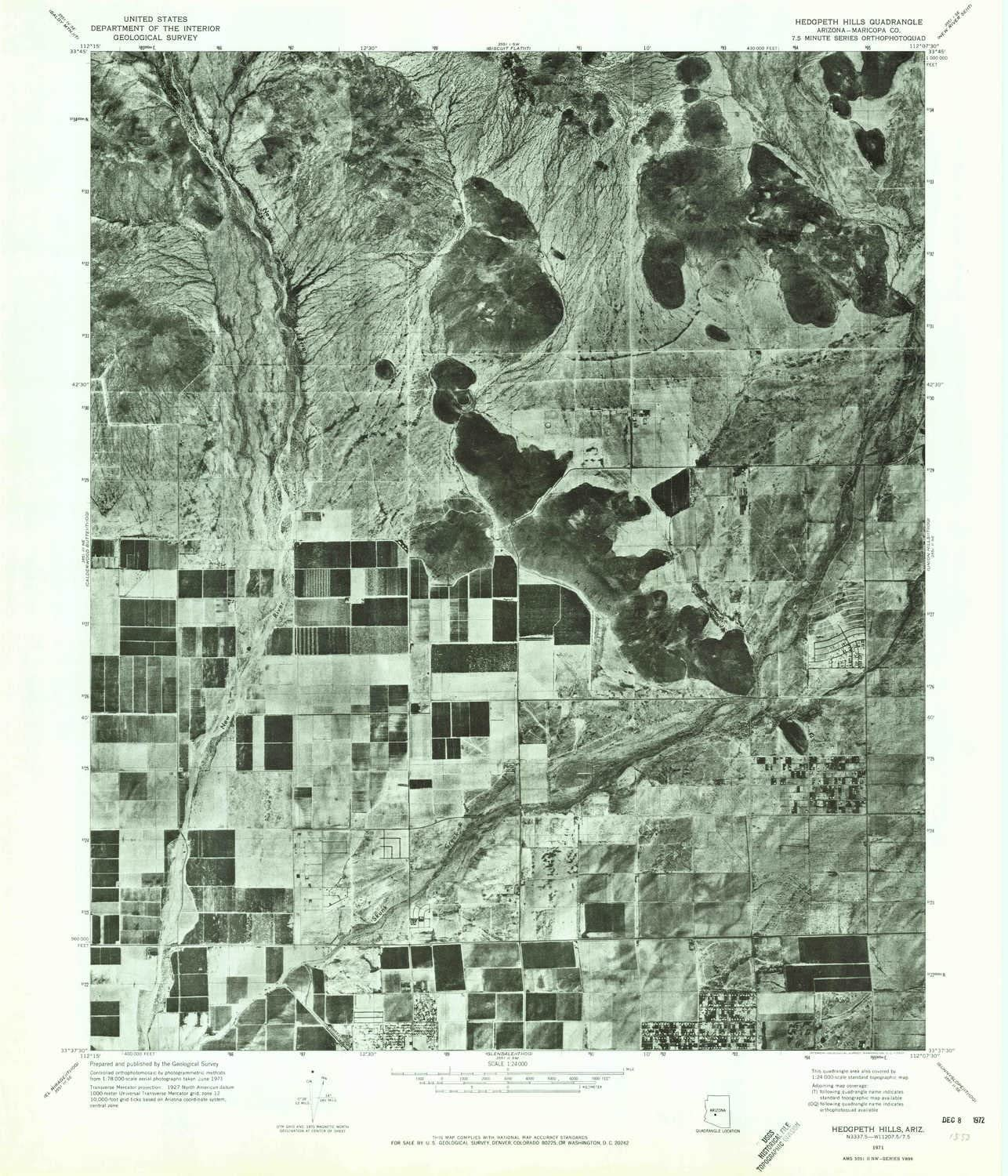 YellowMaps Online limited product Hedgpeth Hills AZ topo X 7.5 map 1:24000 Max 43% OFF Scale