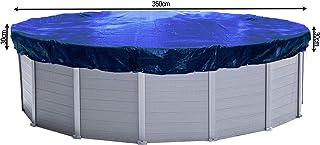 QUICK STAR Cubierta de piscina de invierno redonda 200g / m² para piscina 320 - 366 cm Dimensiones de lona ø 420 cm Azul