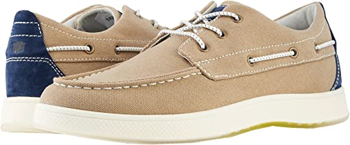 Khaki Canvas/Navy Nubuck