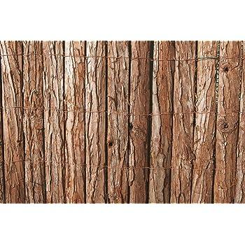 VERDELOOK Arella Wood in Corteccia di Pino 1.5x3 m, per Decorazioni e recinzioni