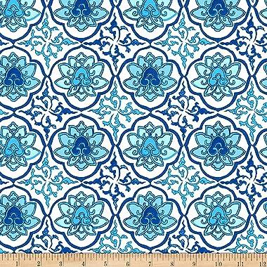 FreeSpirit Silk Road Lhasa Blue Fabric by the Yard