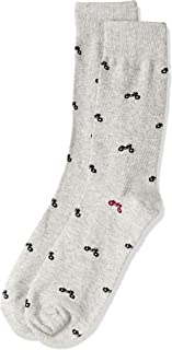 Van Heusen Men's Pair of Socks Motorbikes, Grey, One Size